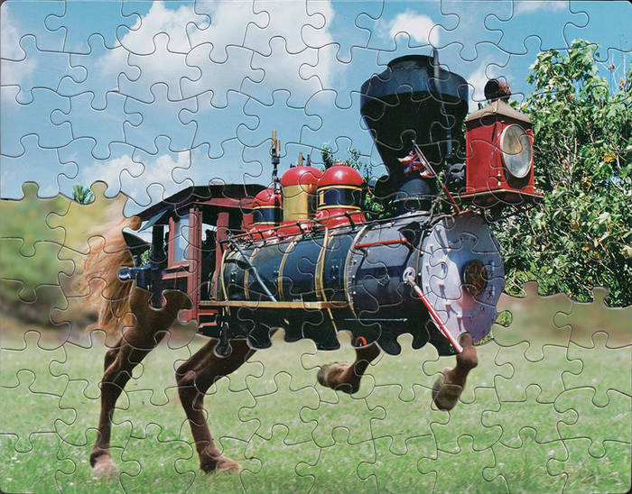 Mismatched Puzzles Turned Into Art